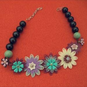 Anthropologie Flower Statement Necklace